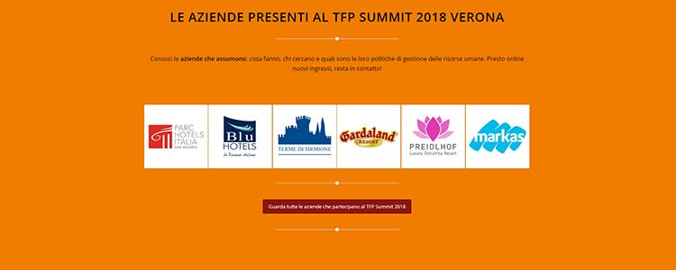 leaziende presenti al tfp summit verona